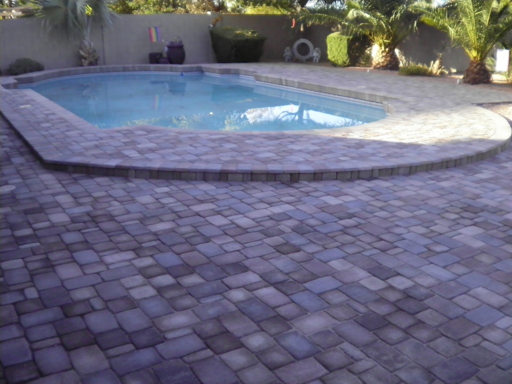 Arizona Landscape Design Paver Pool Deck