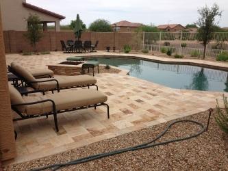 Chandler landscape design paver pool deck