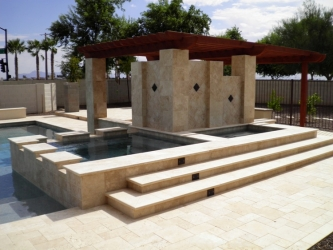 Arizona Landscape Company Travertine Pool Deck