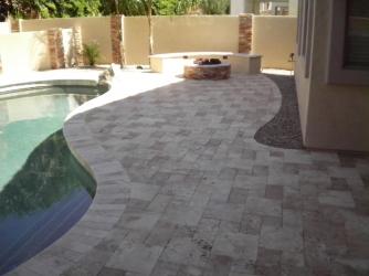 Arizona Landscape Travertine Pool Deck