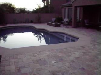 Arizona Backyard Design Overlay Paver Pool Deck