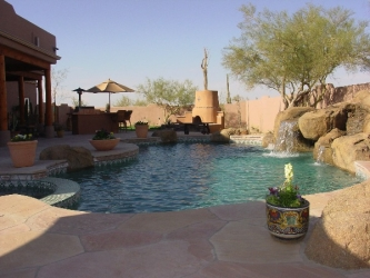 Arizona Outdoor Living Flagstone Pool Deck