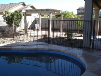 Arizona Backyards Acrylic Pool Deck Coating with Flagstone Pattern