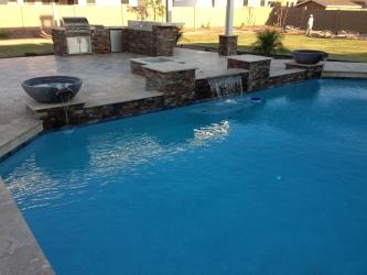 Phoenix Landscape Design Paver Pool Deck