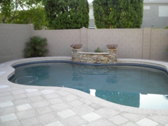 Arizona Backyard Landscape Pavers