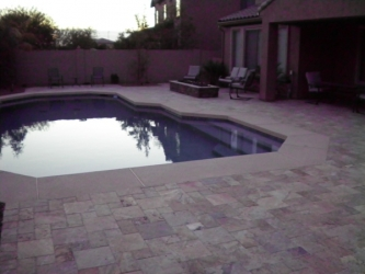 Arizona Backyard Design Overlay Paver Pool Deck