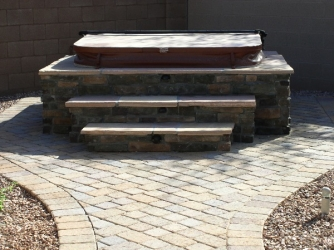 Arizona Landscape Design Spa Wrap