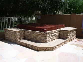 Arizona Outdoor Living Spa Wrap