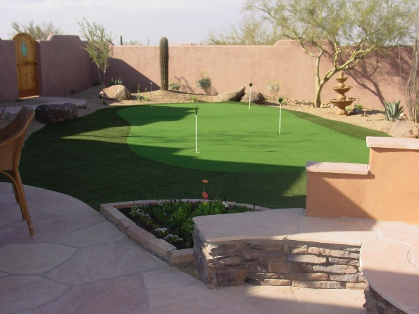 Backyard Landscape  Arizona Putting Green