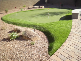 Phoenix Landscape Backyard Putting Green