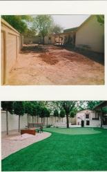Arizona Backyard Design Artificial Grass