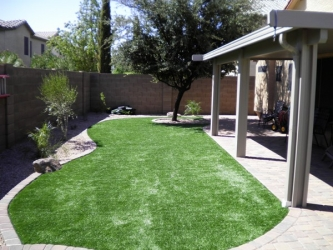 Arizona Backyard Landscape Artificial Turf