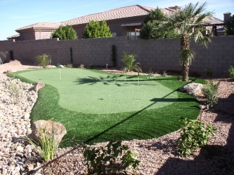 Gilbert Backyard Design Putting Green