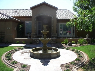 Arizona Landscape Design Water Fountain