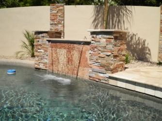 Arizona landscape design water feature