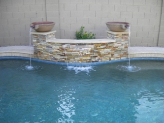 Phoenix Backyard Design Water Feature