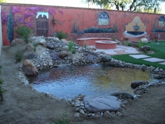 Arizona Backyard Design Water Feature