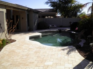 Thin Overlay Pavers used for a pool deck