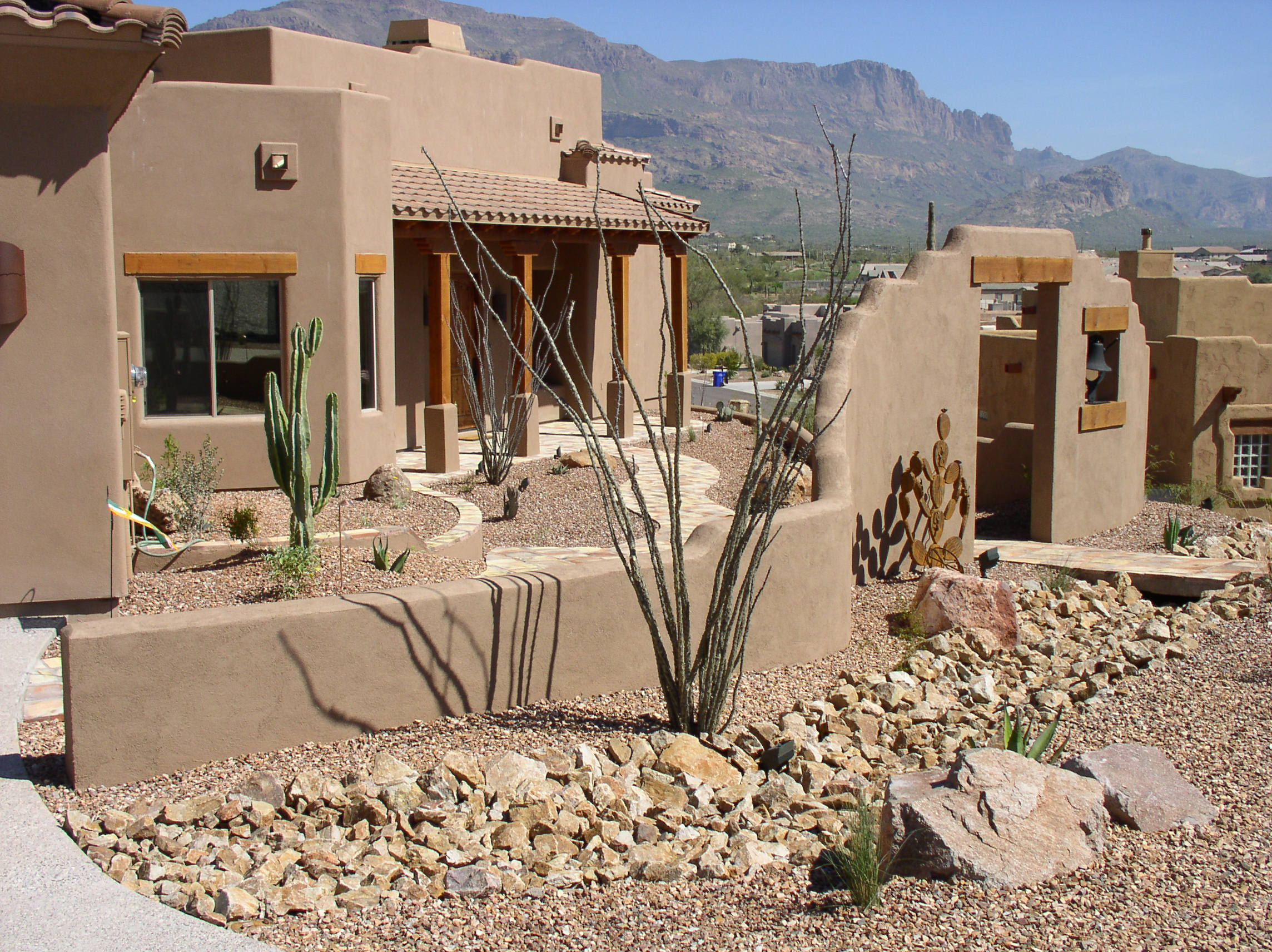 Desert Landscape Design Ideas desert landscape design ideas Paver Driveway And Landscaping For A Southwest Home Generally The Elements For This Style Of Home Are Really Simple While It May Take Some Skill