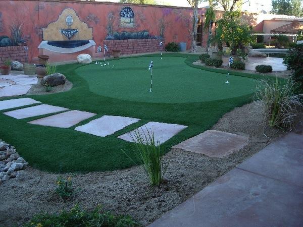 Arizona Backyard Landscaping Ideas backyard landscape design small yard Chandler Landscape Putting Green