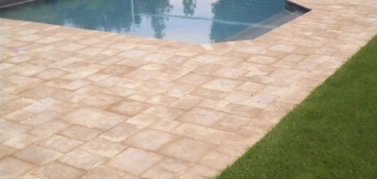Artistic Landscape Pavers = Amazing Pool Deck!
