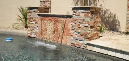 Good landscape designs are anchored by focal points.  One trend is to use water features.