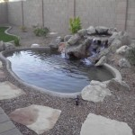 Our clients, the Wolfrum's, now have a water feature that adds a natural relaxation element to their Chandler landscape desgin!