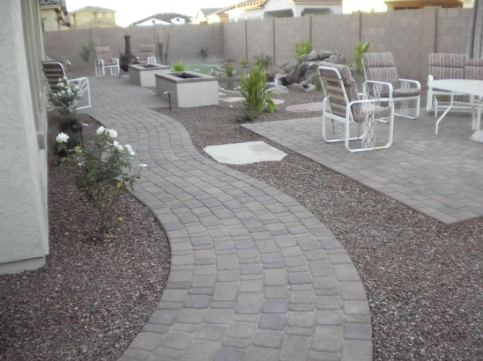 The Wolfrum's now have a Chandler landscape design that they can go to and relax in!