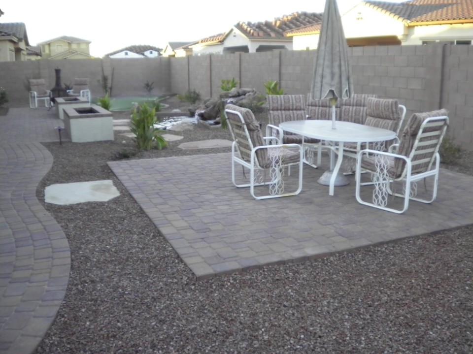 Think of pavers as outdoor flooring!