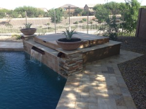 Arizona Landscape Spa with Water Feature