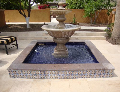 Arizona backyard designs for Garden fountains phoenix