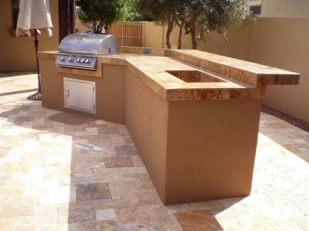 Arizona Backyard Landscape Outdoor Kitchen