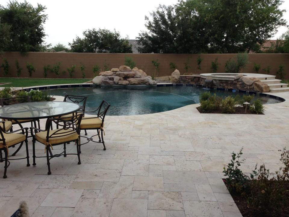 Scottsdale Backyard Landscape Renovation Paver Pool Deck