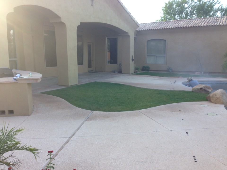 Scottsdale Backyard Landscape Before Renovation