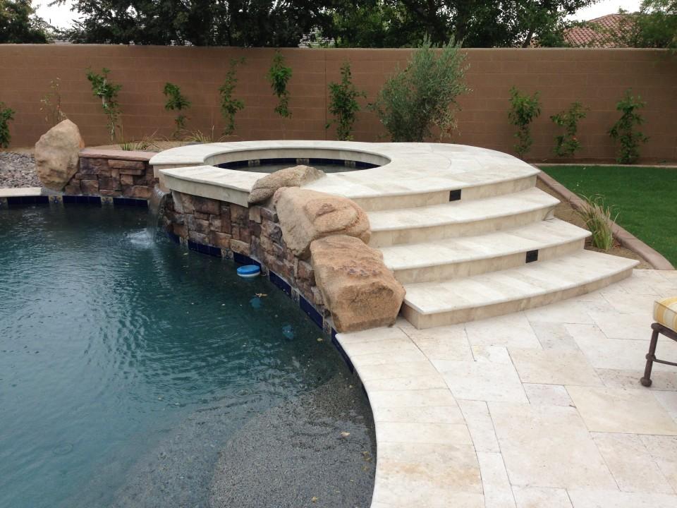 Scottsdale Backyard Landscape Pavers