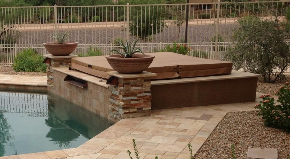 Chandler landscape patio spa