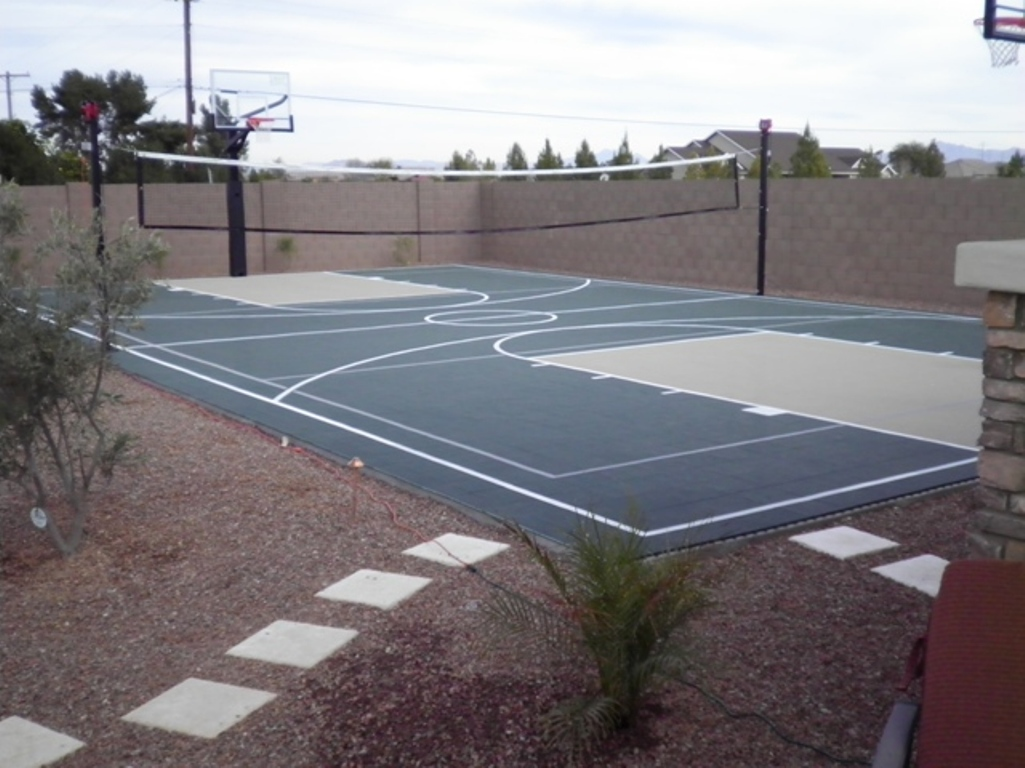 Fun ideas for a kid friendly arizona landscape design for Backyard sport court ideas