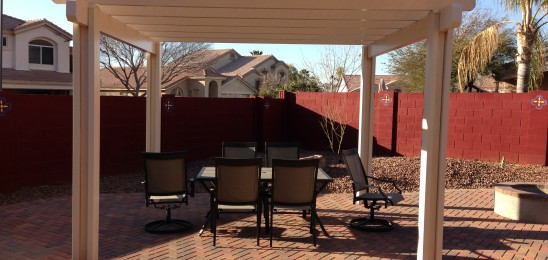 Pergola provides shade from our warmer Arizona sun.