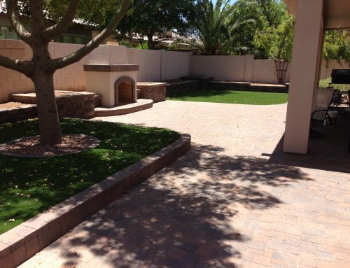 Chandler Landscape Design: Fireplace Focal Point