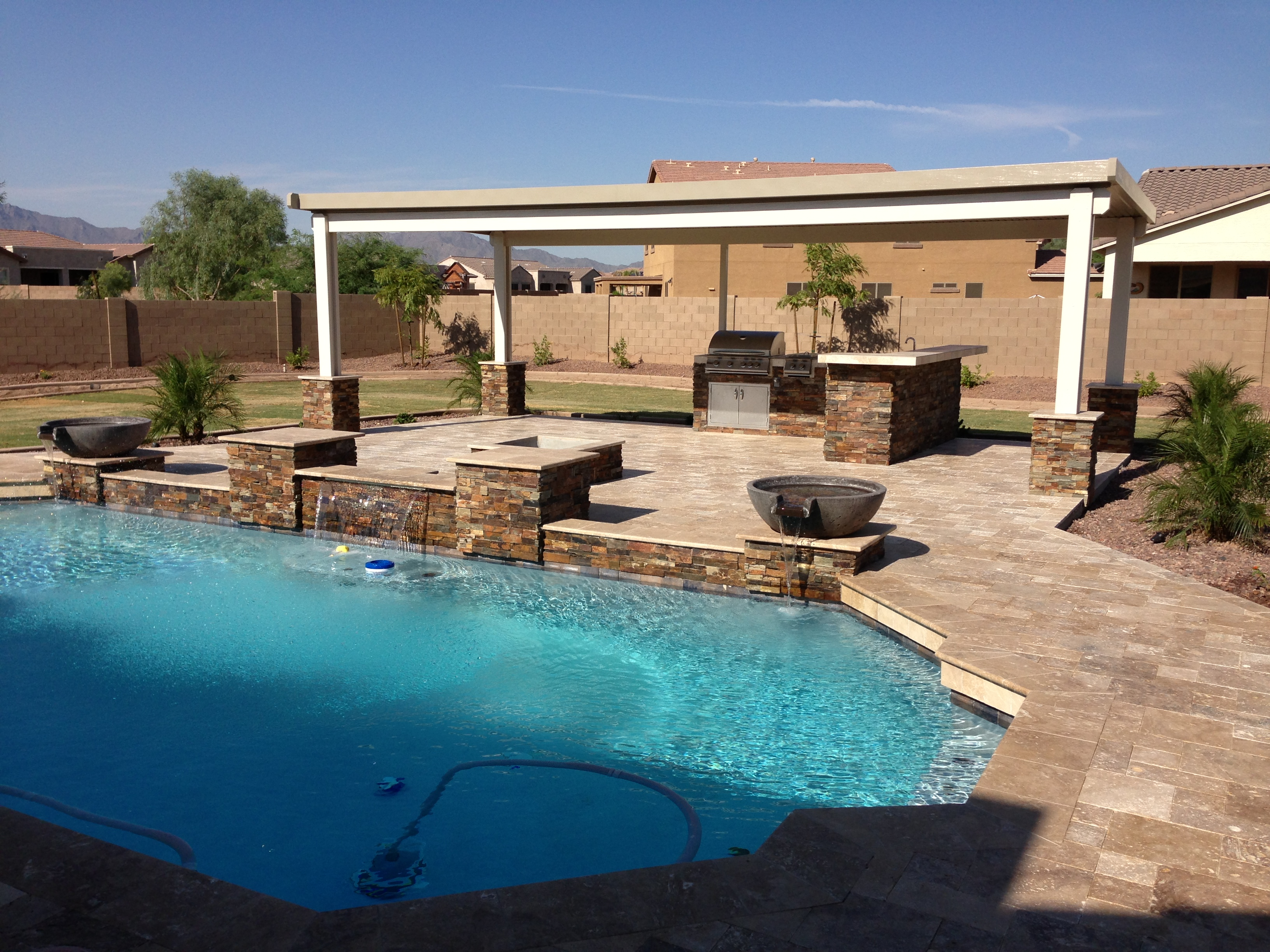 Phoenix Landscaping Designs, Outdoor Kitchens, and Pavers on Nice Backyard Landscaping Ideas id=15416