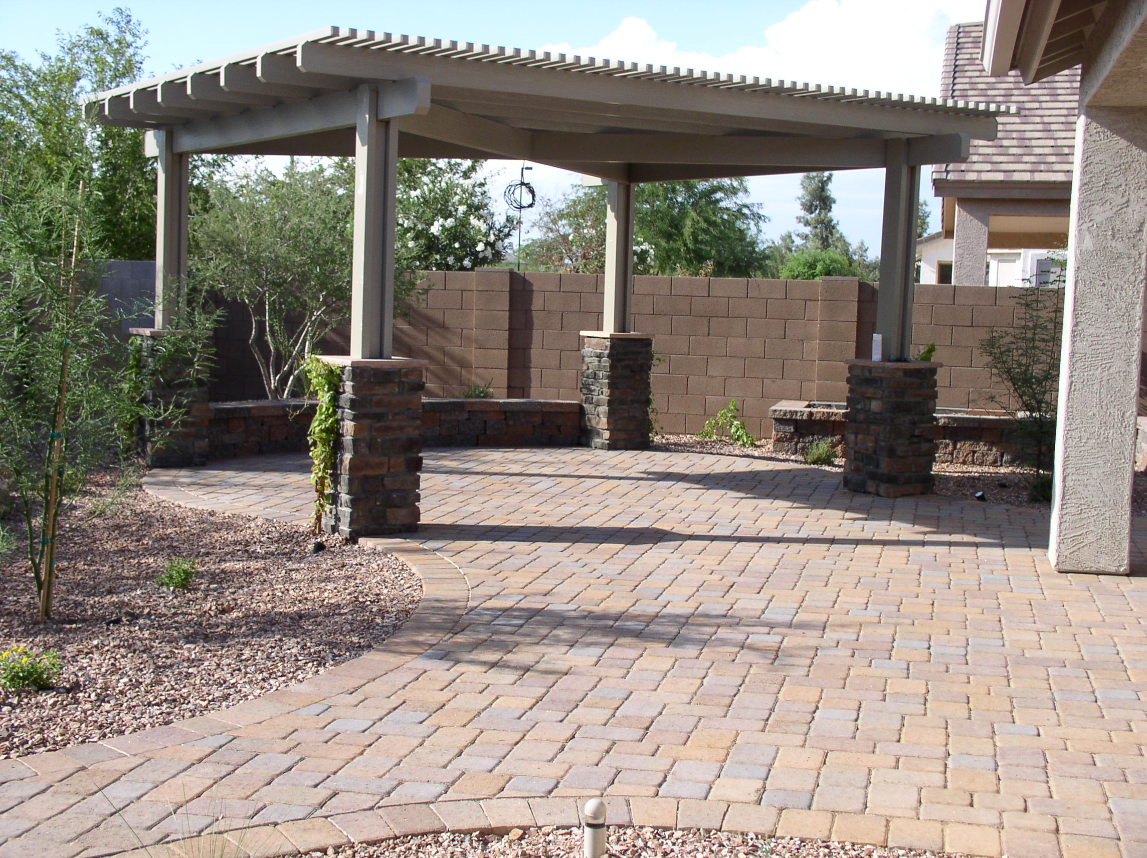 Paver Designs and Paver Ideas for Your Backyard Patios on Brick Paver Patio Designs id=25251